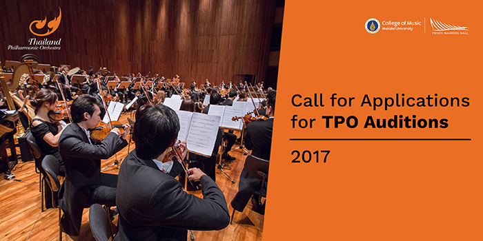 TPO opens all of its orchestra positions for auditions