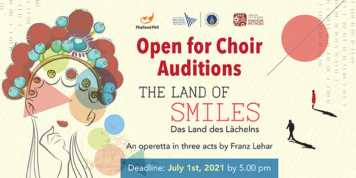 Open for Choir Auditions The Land of Smiles – an operetta in three acts by Franz Lehar